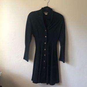 Vintage 80s black long coat